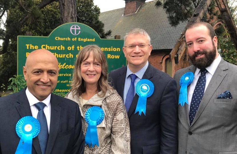 Mawneys Conservative Action Team: Cllr Dilip Patel, Cllr Carol Smith, Andrew Rosindell MP, Cllr Jason Frost