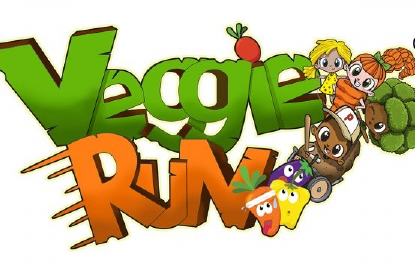 The Veggie Run app helps promote a healthy diet