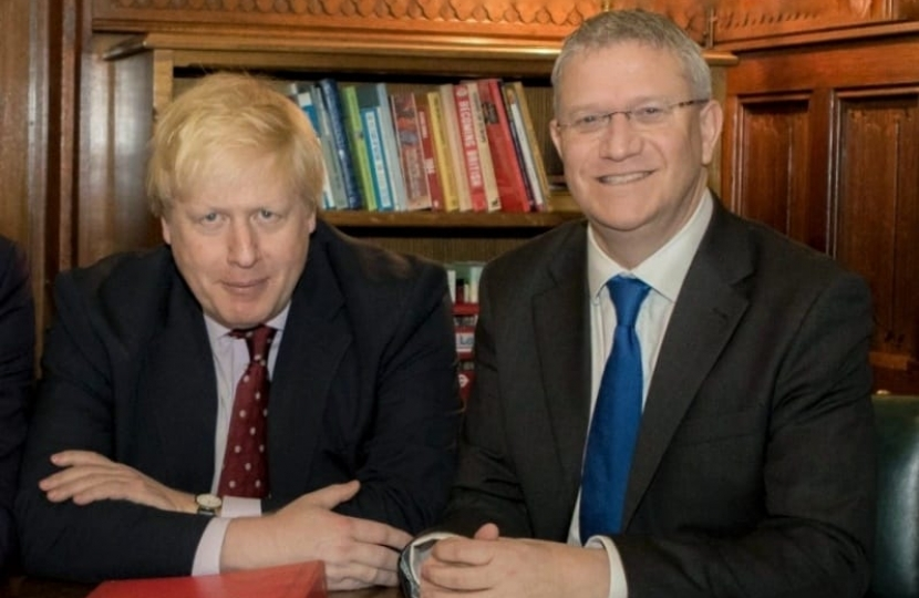 Andrew Rosindell and Boris Johnson