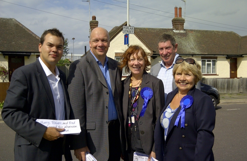 Conservative Councillors out and about in Romford